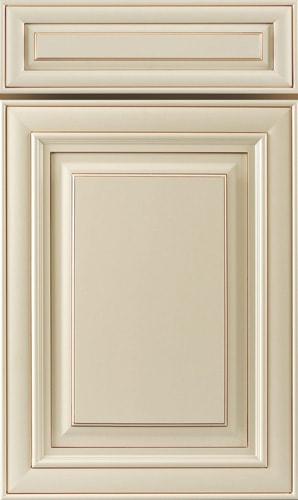 Crème Glazed White Raised Panel Kitchen Cabinet