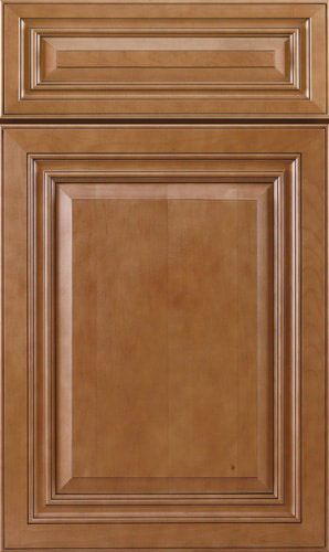 Cinnamon Glazed Brown Raised Panel Kitchen Cabinet