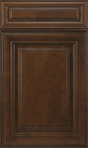 Chocolate Glazed Brown Raised Panel Kitchen Cabinet