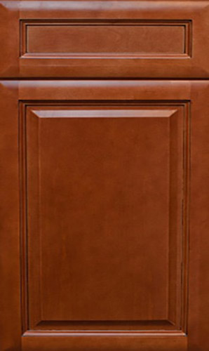K Series Cinnamon Glaze Raised Panel Kitchen Cabinets