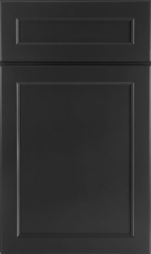 Charcoal Gray Transitional Kitchen Cabinet