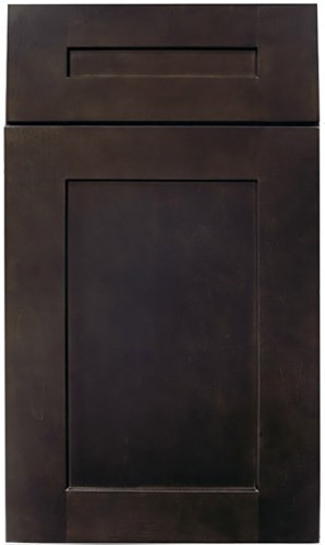 Ebony Espresso Shaker Kitchen Cabinet