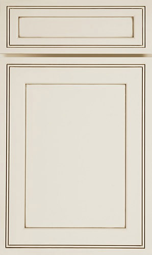 Pearl Glazer White Transitional Kitchen Cabinet