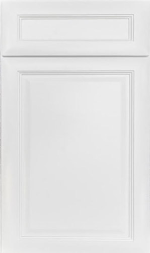 K Series White Raised Panel Kitchen Cabinets