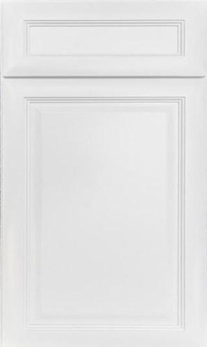 K Series White Raised Panel Kitchen Cabinets