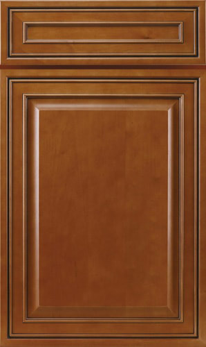 Mocha Glazed Brown Raised Panel Kitchen Cabinets