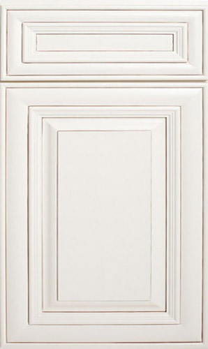 Perla White Raised Panel Kitchen Cabinet