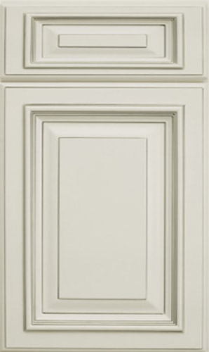 Signature White Raised Panel Kitchen Cabinet
