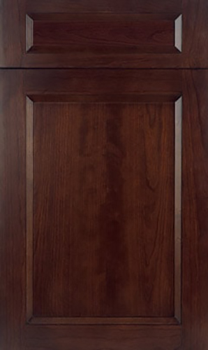 Bellrose Cherry Chesnut Transitional Kitchen Cabinet