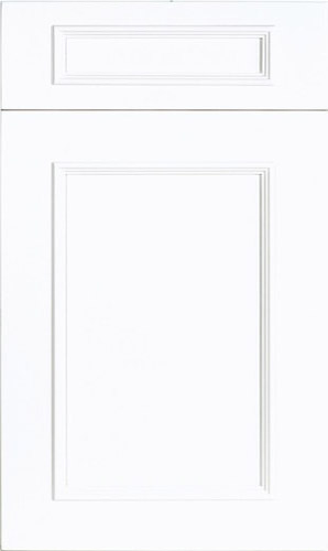 Ridgewood Bright White Transitional Kitchen Cabinet