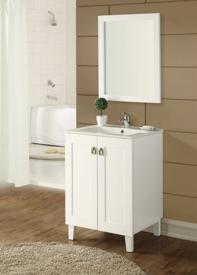 Elan 24′ White with Matching Mirror