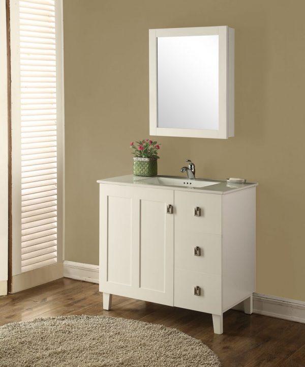 Elan 36′ White with Matching Medicine Cabinet