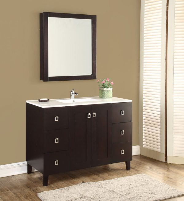 Elan 48′ Dark Walnut with Matching Medicine Cabinet