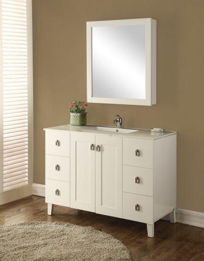Elan 48′ White with Matching Medicine Cabinet