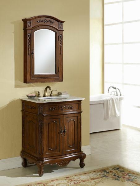 Kensington 27 Quot Teak Vanity With Matching Medicine Cabinet