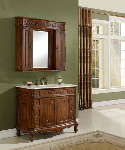 Kensington 42′ Teak with Matching Medicine Cabinet