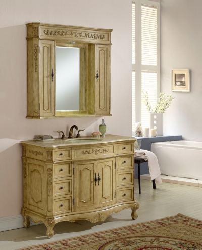 Kensington 48′ Tan with Matching Medicine Cabinet