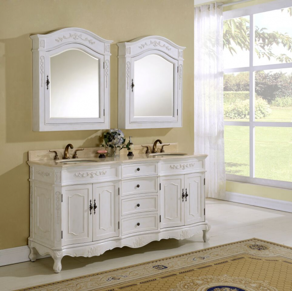Kensington 72′ Antique White with Matching Medicine Cabinet
