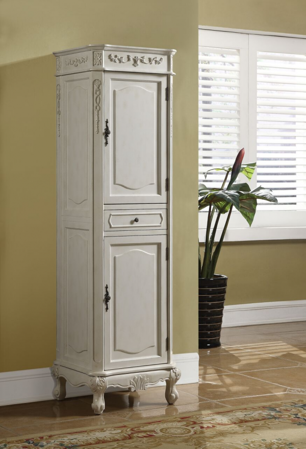 Kensington Linen Cabinet Antique White