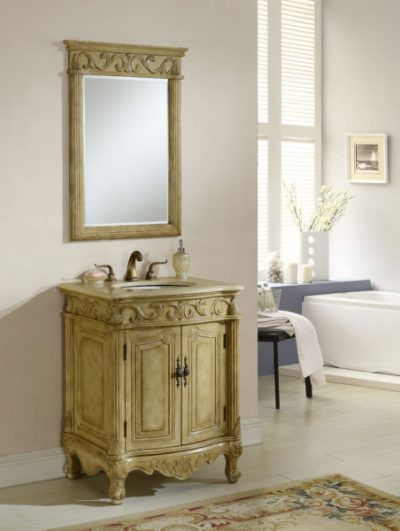 Tuscany 27′ Tan with Matching Medicine Cabinet