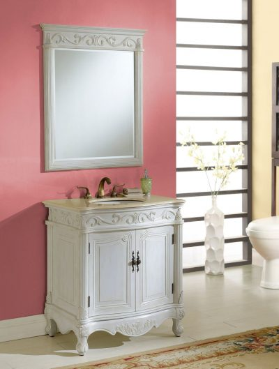 Tuscany 32′ Antique White with Matching Mirror