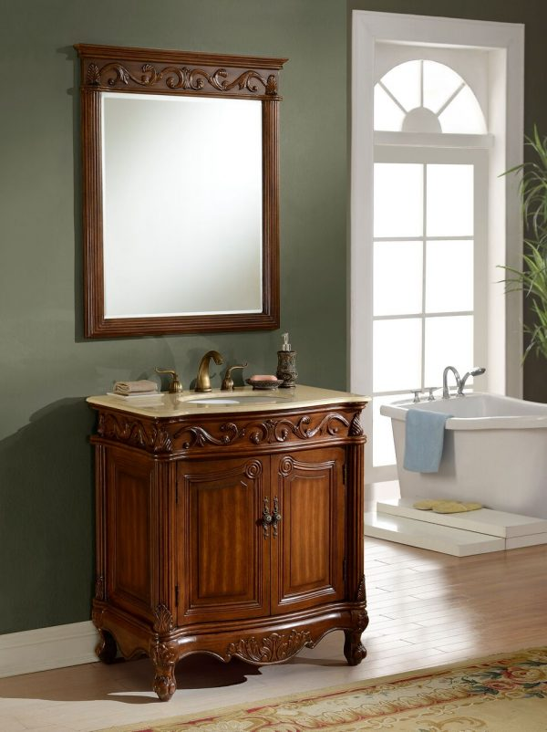 Tuscany 32′ Teak with Matching Mirror