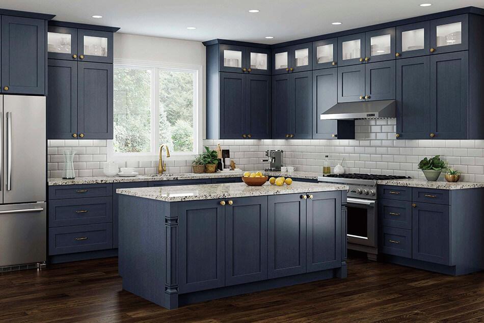 Elegant Blue Kitchen Style