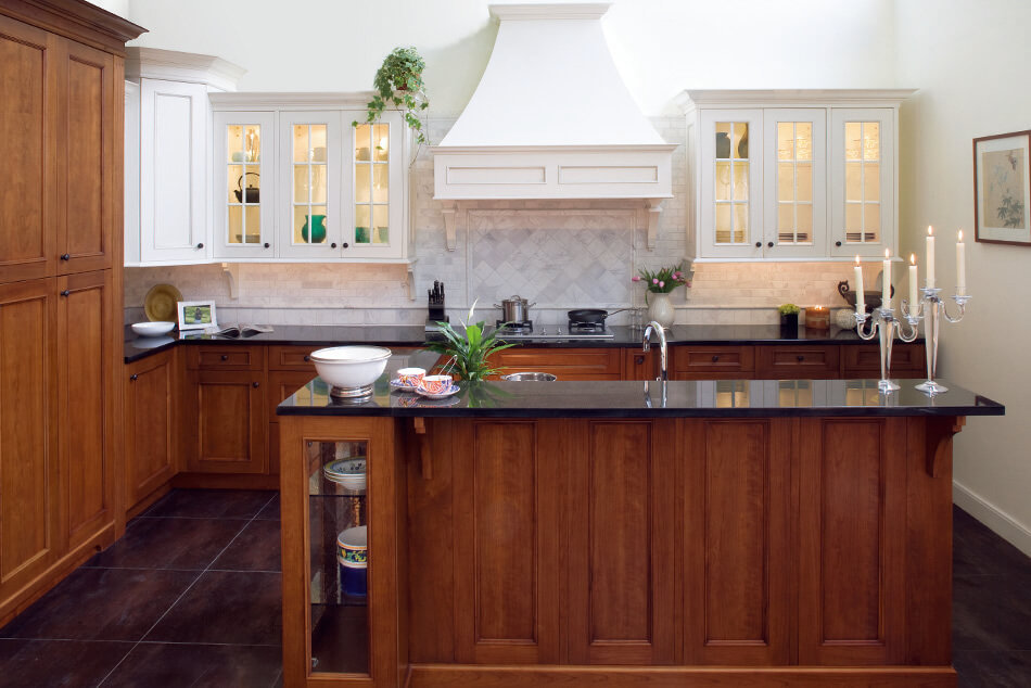 Greenfield Ginger Cherry Simply White Kitchen Style
